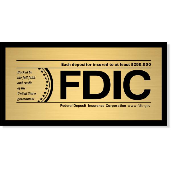 FDIC Sign for Banks & Finance