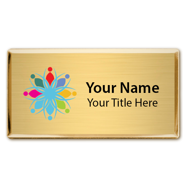 Magnetic Full Color Executive Beveled Badges