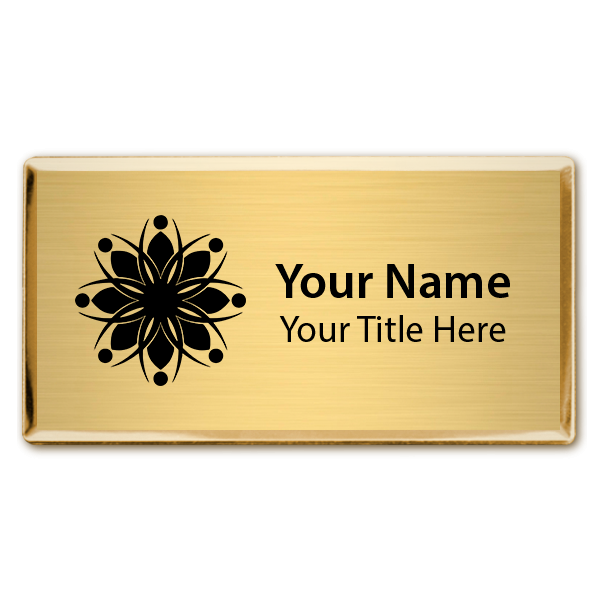 Magnetic Engraved Executive Beveled Badges