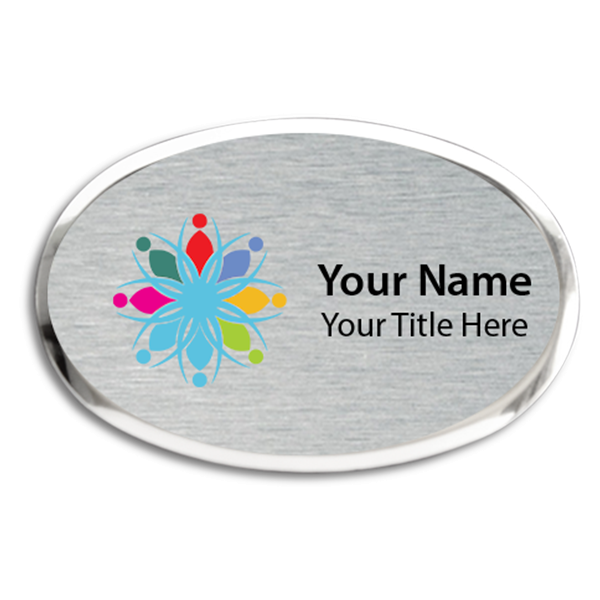 Magnetic Full Color Executive Beveled Oval Badges