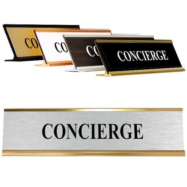 """Concierge Desk Plate   2"""" x 8"""""""