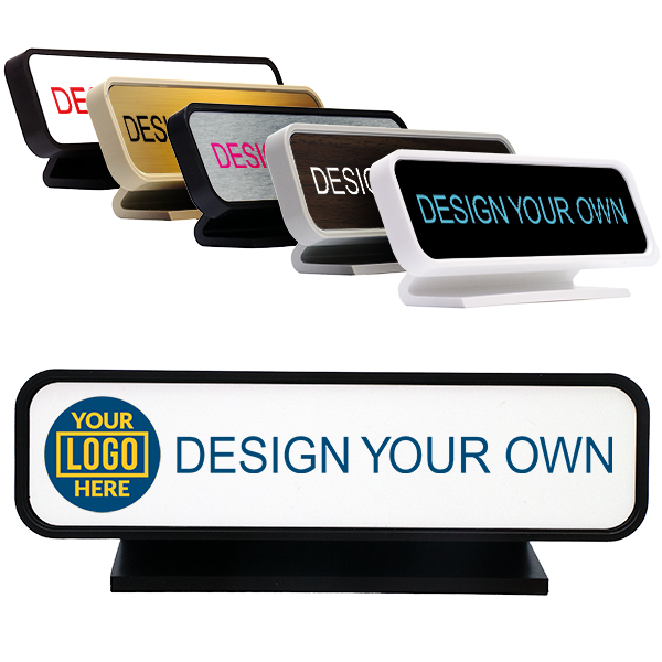 """Rounded Full Color Desk Sign- 2"""" x 8"""""""