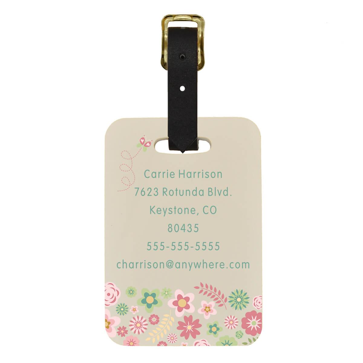 Floral Custom Luggage Tag