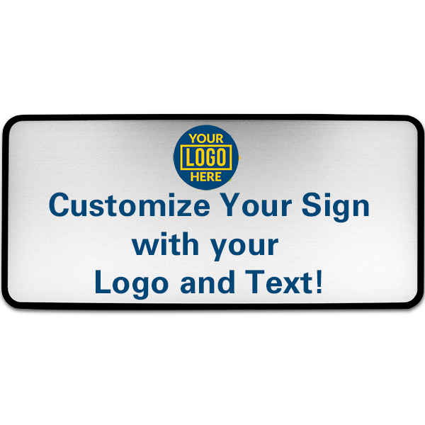 """4"""" x 9"""" Full Color Wall Sign with Plastic Holder"""