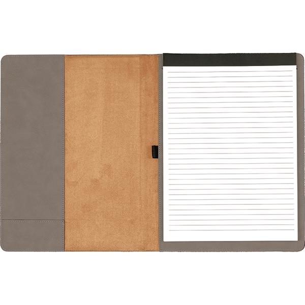 Monogram Faux Leather Portfolio Small