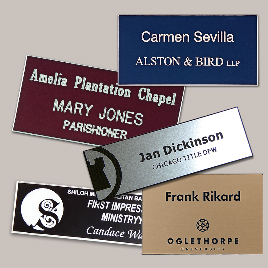 Lasered Rectangle Name Badge