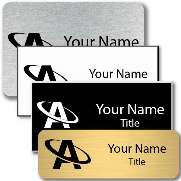 Lasered Rectangle Name Tag