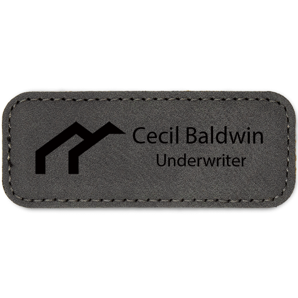 Arches Realtor Leatherette Real Estate Name Tag