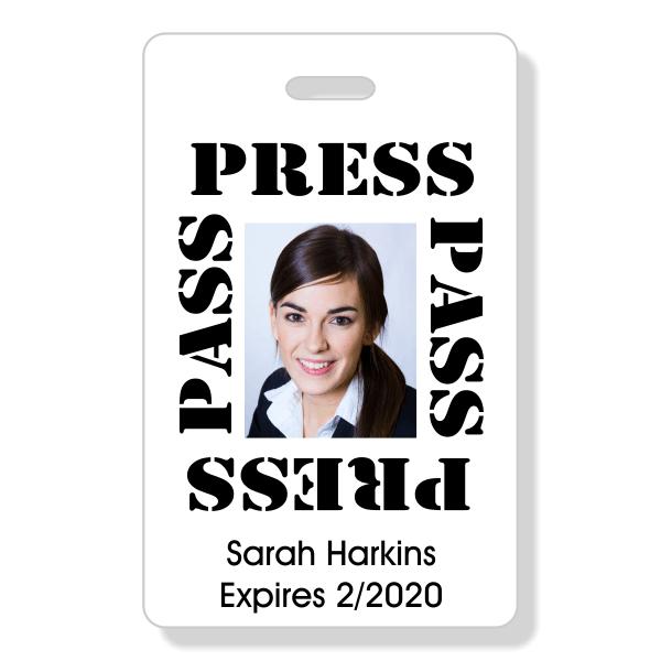 Basic Press Pass ID Badge