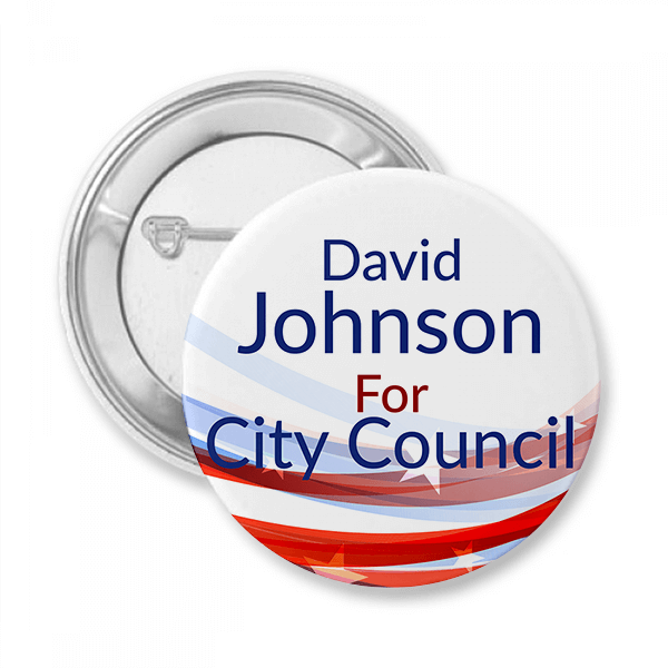 Blue Local Elections Campaign Button