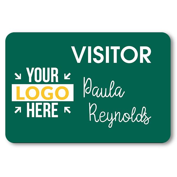 Visitor Chalkboard Reusable Rectangle Name Tag