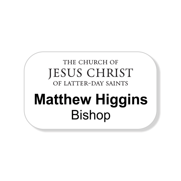 Church of Latter Day Saints Full Color Name Tag - Rectangle