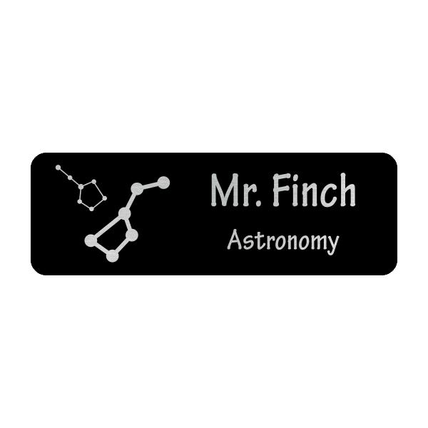 Constellations Astronomy Teacher School Name Tag