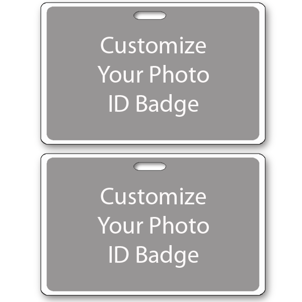 Custom Double Sided Horizontal ID Card