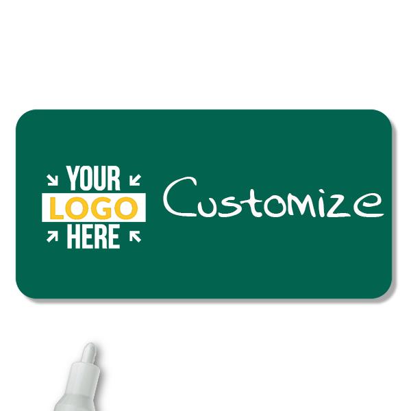 Customized 1.25 x 3 Chalkboard Reusable Name Tag