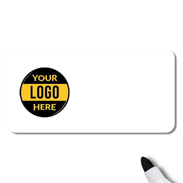 Customized 1.5 x 3 Dry Erase Reusable Name Tag - Blank
