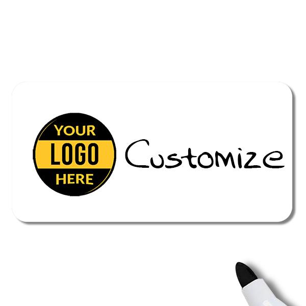 Customized 1.5 x 3 Dry Erase Reusable Name Tag