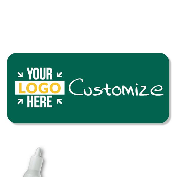 Customized 1.5 x 3.5 Chalkboard Reusable Name Tag