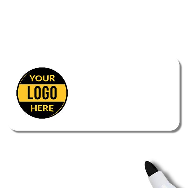 Customized 1.5 x 3.5 Dry Erase Reusable Name Tag - Blank