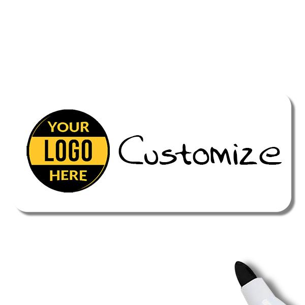 Customized 1.5 x 3.5 Dry Erase Reusable Name Tag