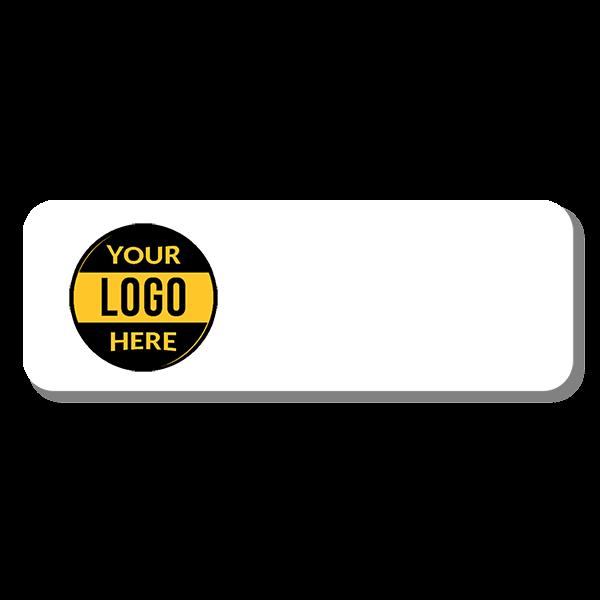 Customized 1.25 x 3 Dry Erase Reusable Name Tag - Blank