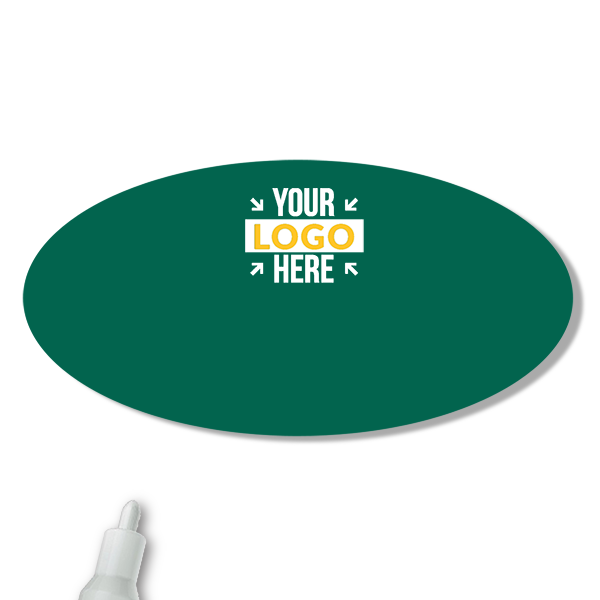 Customized Oval 1.5 x 3 Chalkboard Reusable Name Tag - Blank