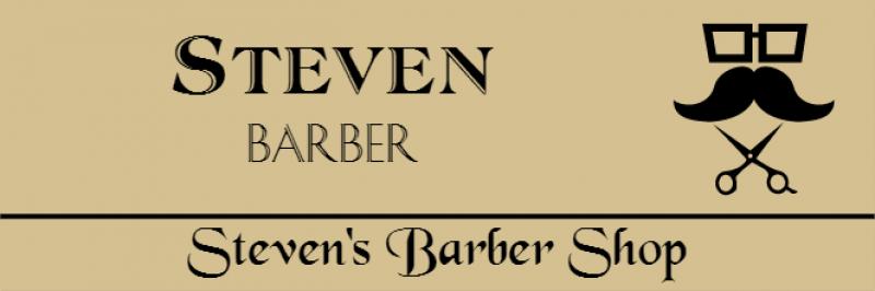 Barber Shop 3 Line Rectangle Name Badge