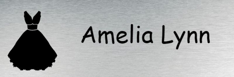 Bridal Shop 1 Line Rectangle Name Badge