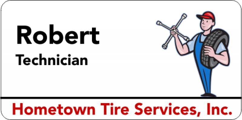 Maintenance Tire 3 Line Name Badge