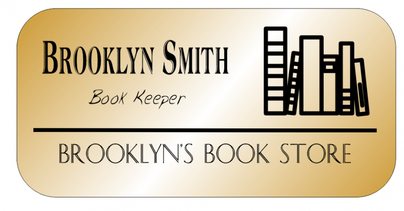 Book Shop 3 Line Rounded Rectangle Name Badge