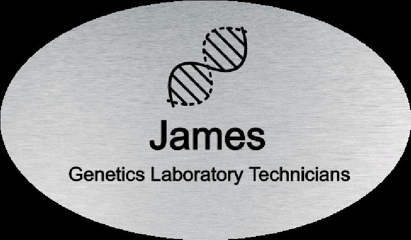 Genetics Labatory Technicians Oval Name Badge