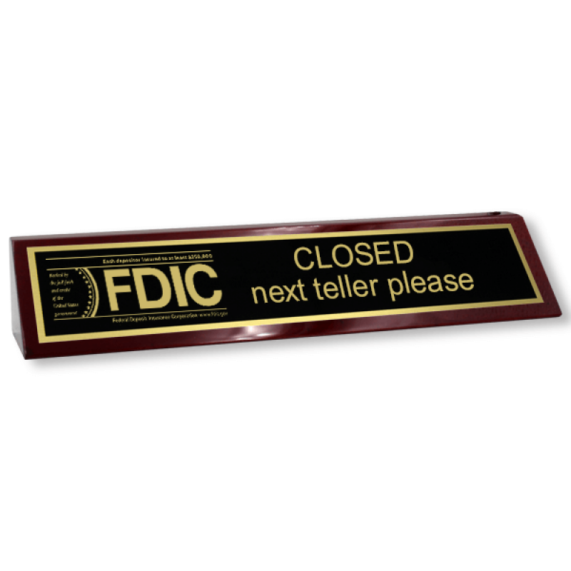 FDIC Next Teller Wood Block