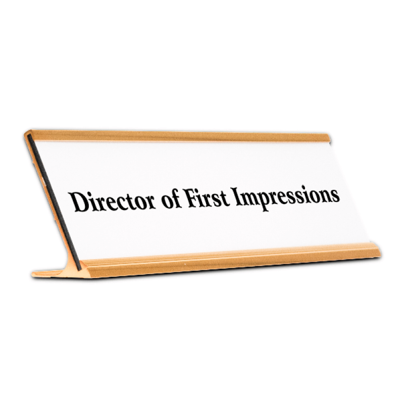 Director of First Impressions Funny Name Plate