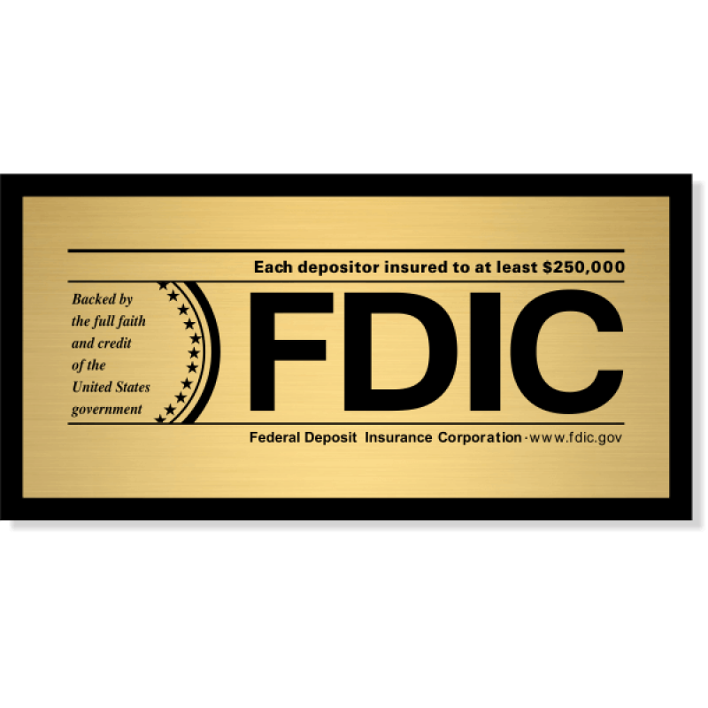 """FDIC Sign for Banks & Financial Institutions 