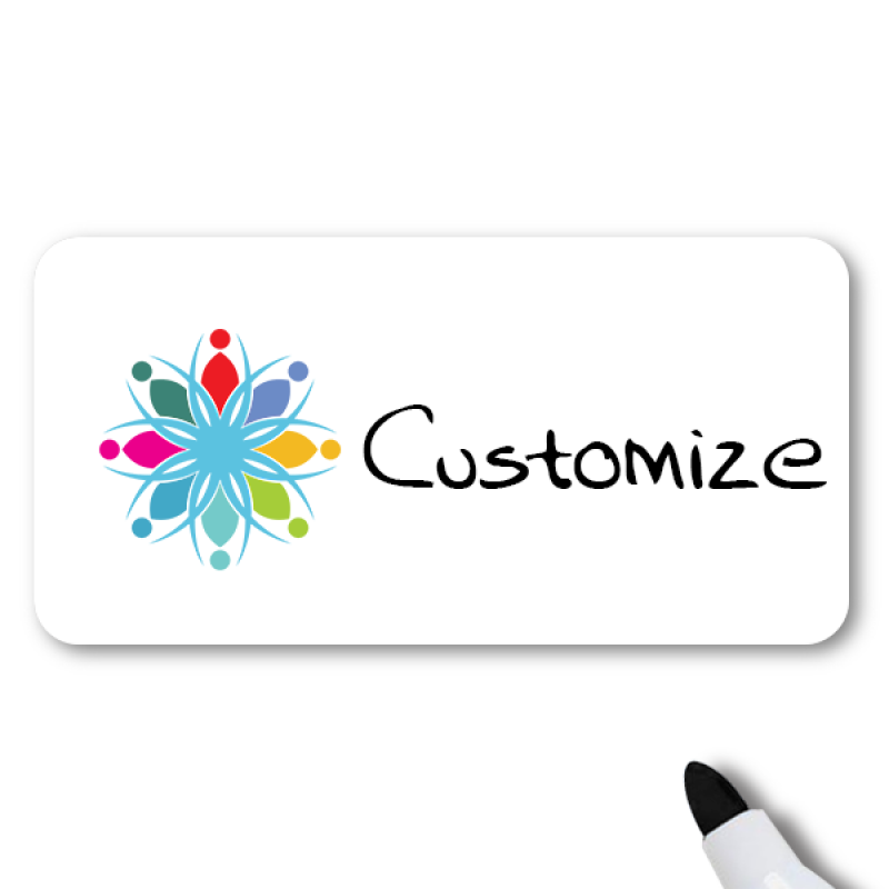 Magnetic Rectangle Dry Erase Reusable Name Tag