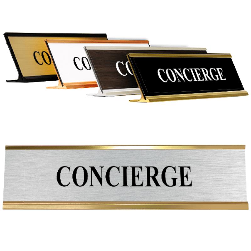 Concierge Desk Plate Silver