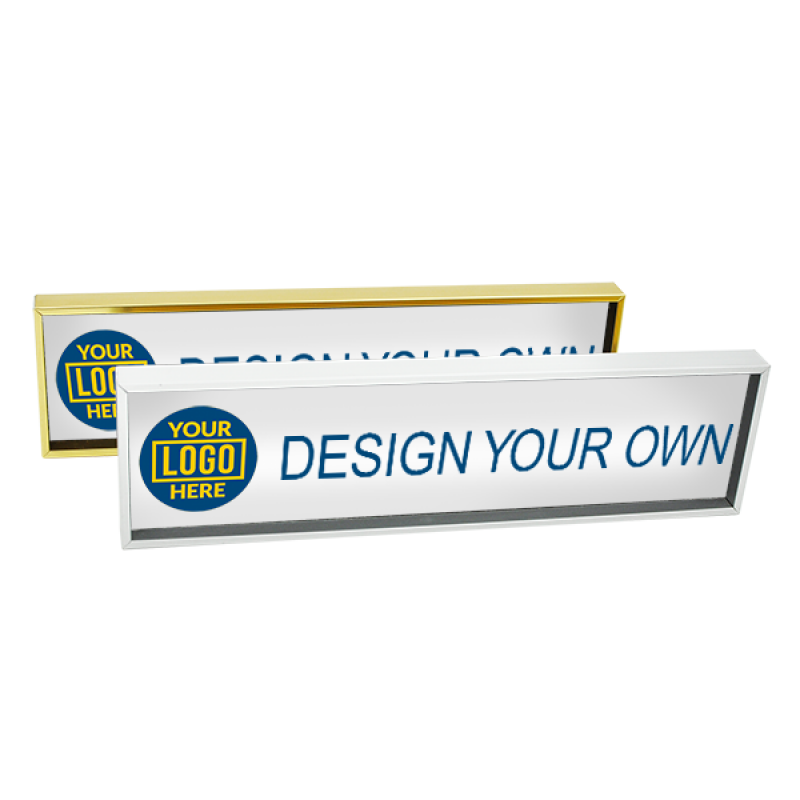 Full Color Name Plate with Logo