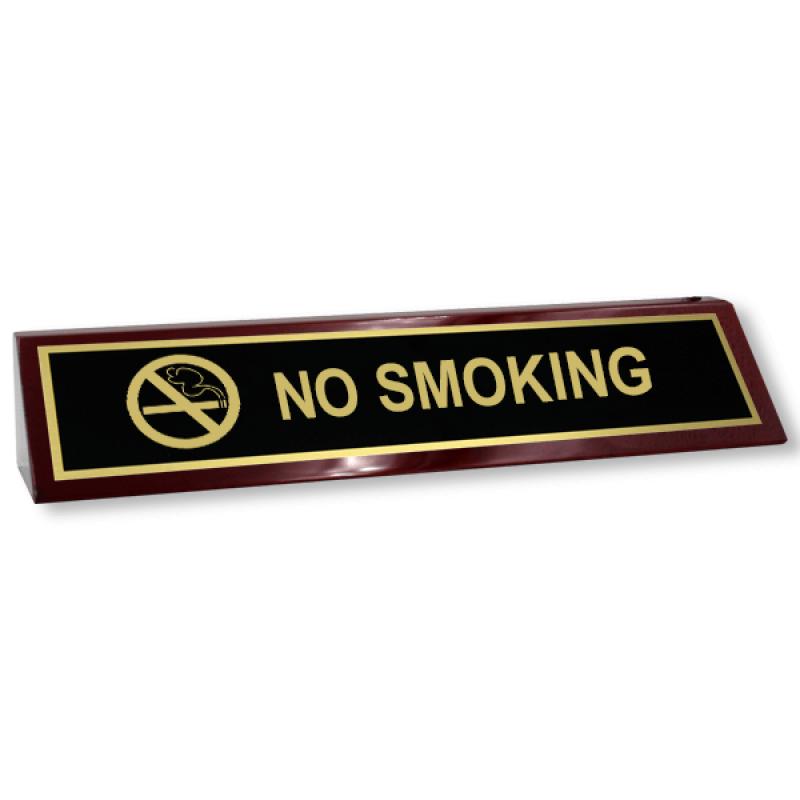 No Smoking Desk Block