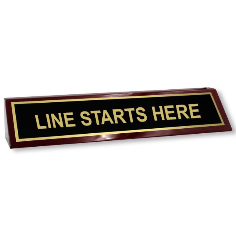 Line Starts Here Piano Desk Block