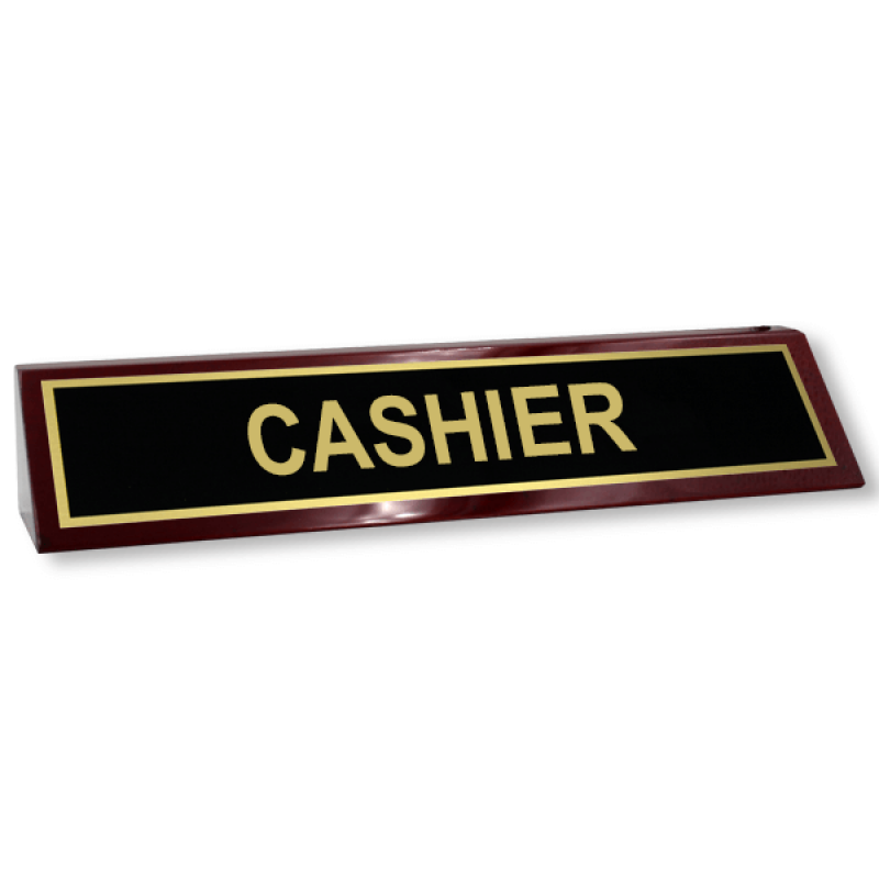 Cashier Wood Desk Block