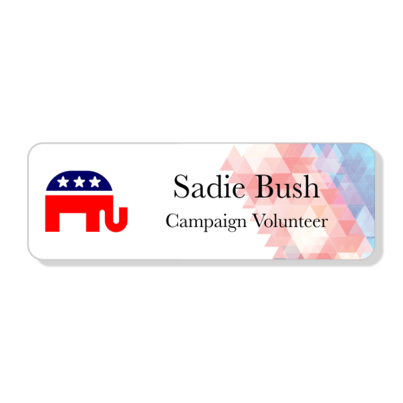 Abstract Conservative Political Name Tag