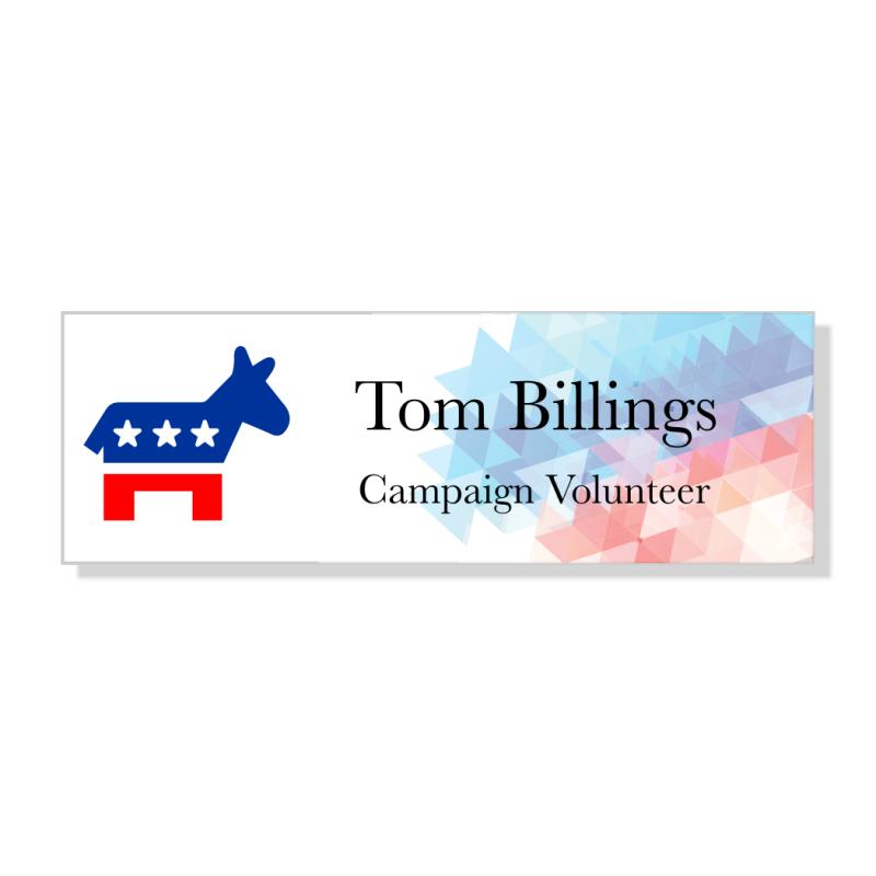 Abstract Liberal Political Name Tag