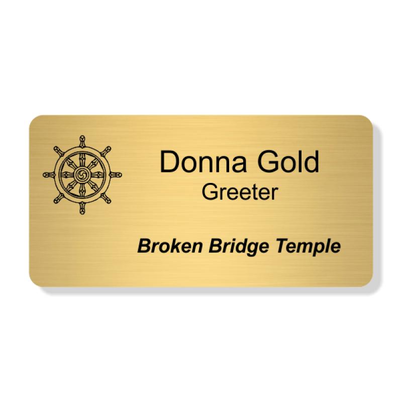 Buddhist Faith Engraved Name Tag - Large Rectangle