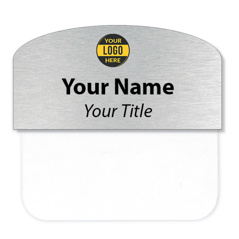 "Custom Arched Pocket Badge - 1.5"" x 3"""