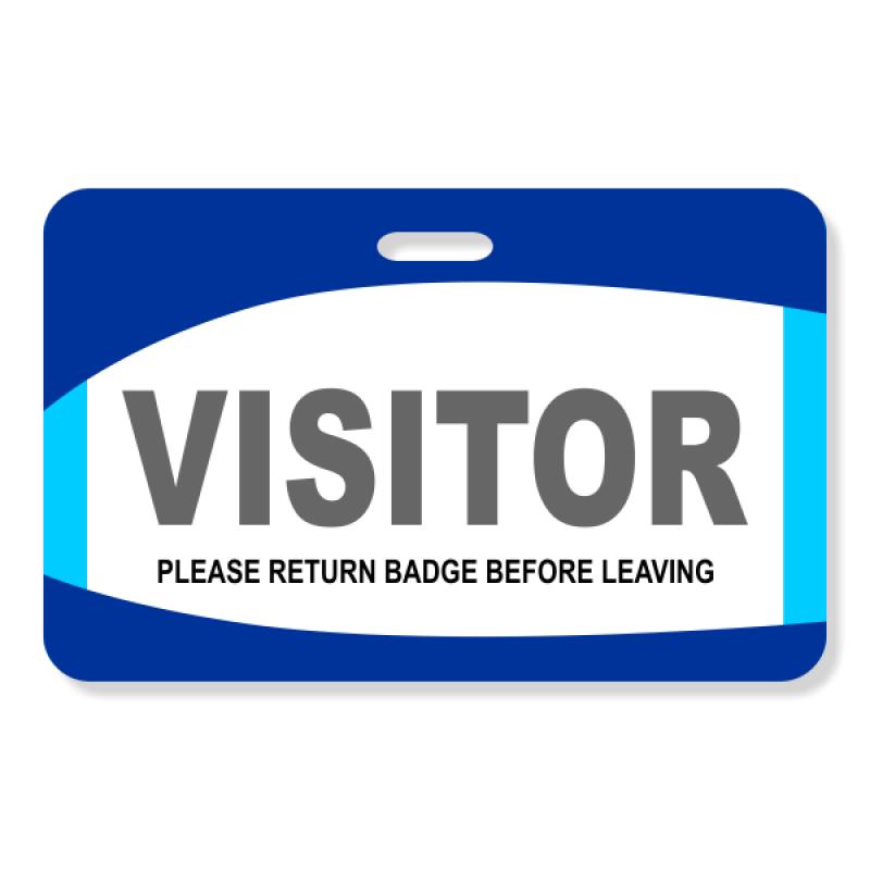 Decorative Visitor Badge