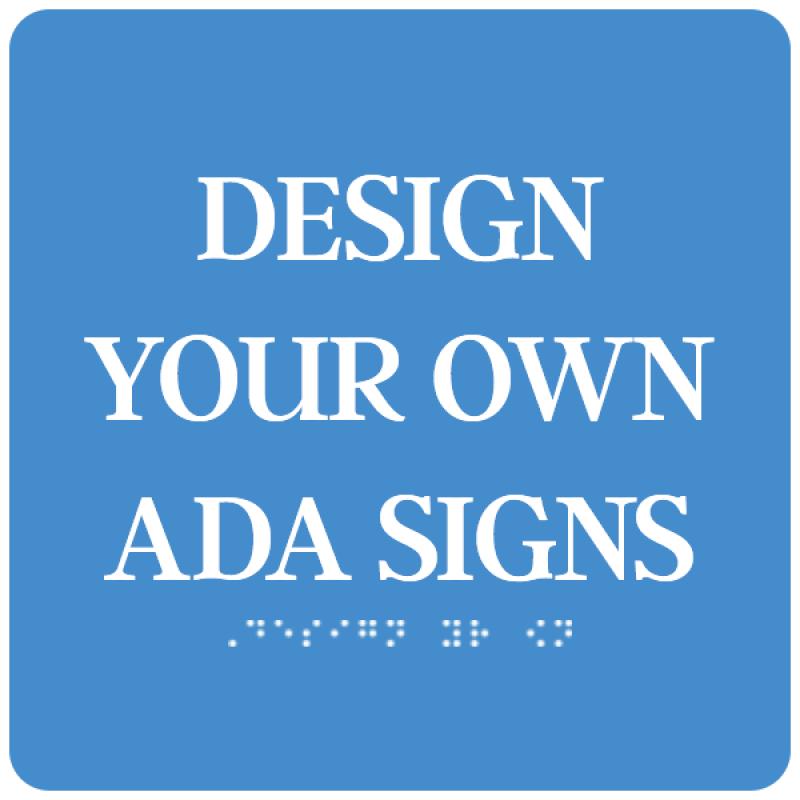 """ADA Sign Square 10"""" x 10"""""""