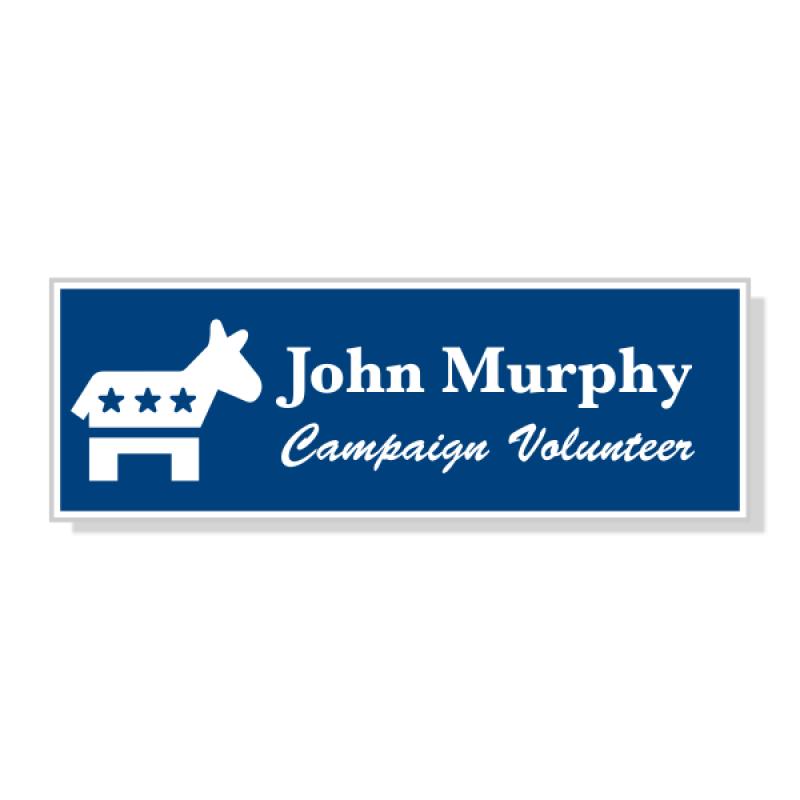 Engraved Democrat Political Name Tag
