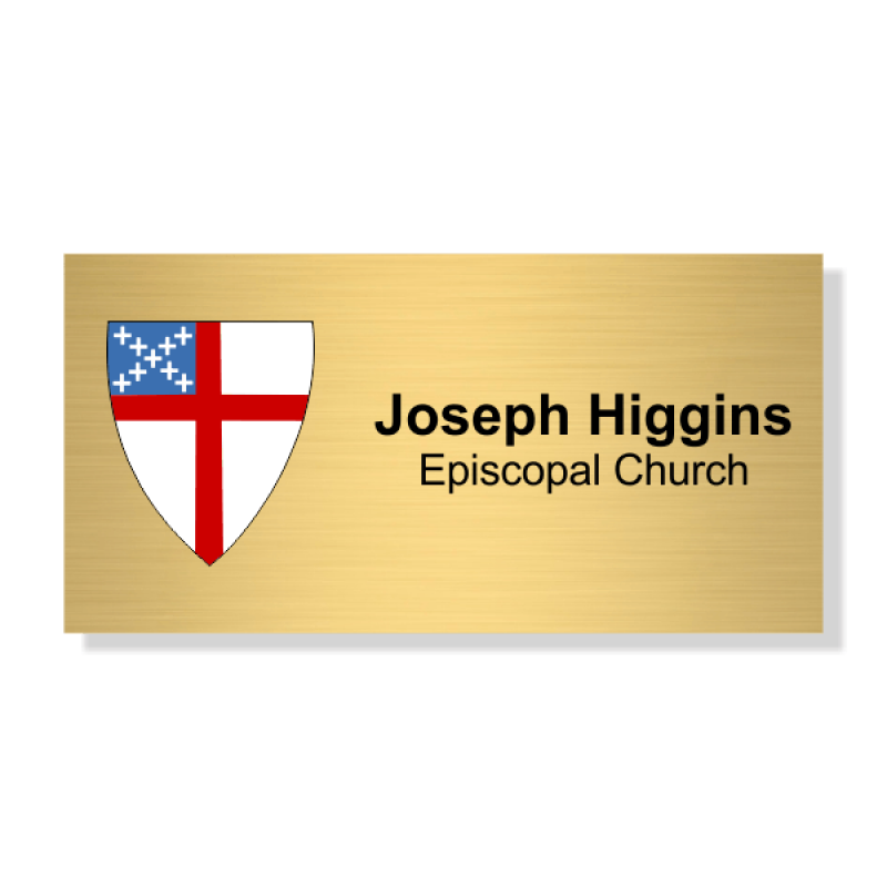 Episcopal Full Color Name Tag - Rectangle