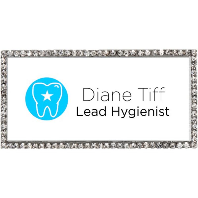 Fancy Dental Hygienist Name Tag