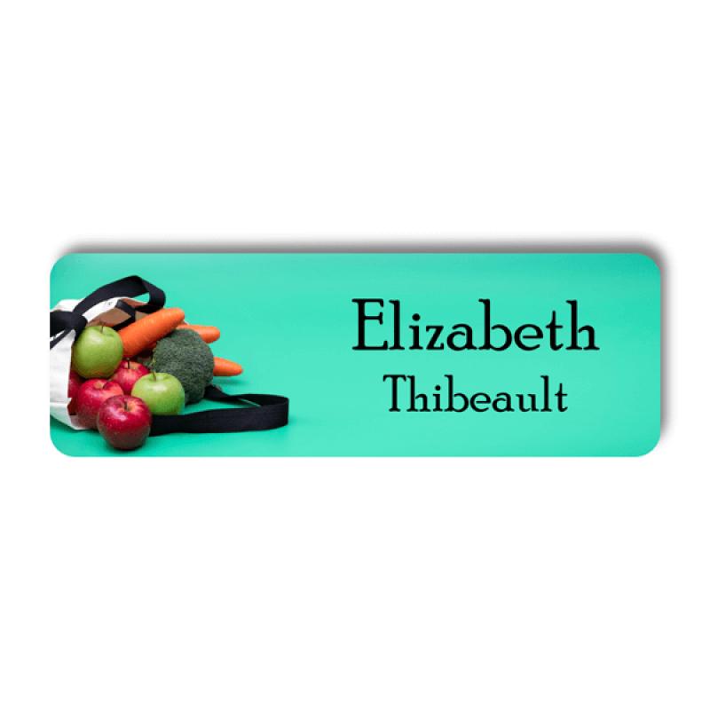 Food Market Name Tag